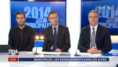 Simon Labouret (France 3), Olivier Burlats (FN), Jean-Pierre Barbier (UMP)