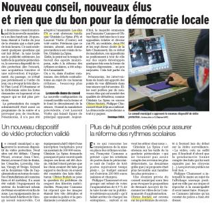 Le Dauphiné 25 juin 2014, article de Dominique Cheul