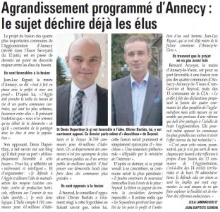 Article de l'Essor savoyard du 26 juin 2014 par Leila Lamnaouer et Jean-Baptiste Serron