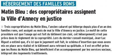 Le Dauphiné Libéré du 07/07/2014