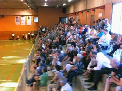 Réunion Gymnase de Barral 17 juillet 2014 : le public