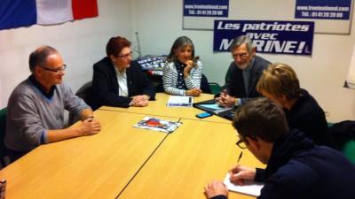 Jean-Marc Sonney, Cécile Guillermain, Brigitte Audubert et Alain Fischer.