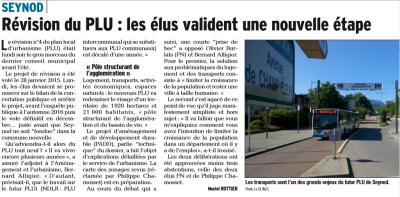 Le Dauphiné du 29 juin 2016 par Muriel Rottier